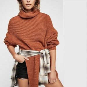 NEW Free People Eleven Chunky Knit Turtleneck